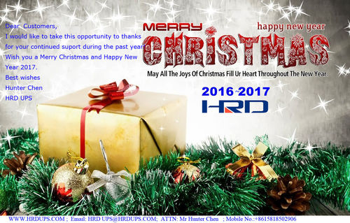 Holiday Notice Announcement Of 2017 Chinese New Year And Merry Christmas